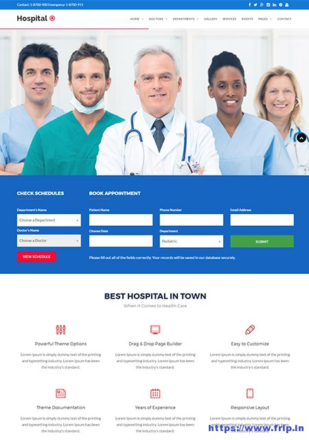 Hospital-plus-Medical-Doctor-WordPress-Theme