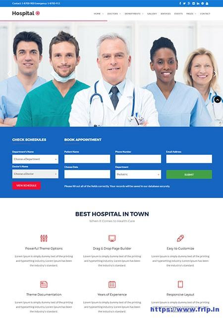 Hospital-plus-Medical-Doctor-WordPress-Theme