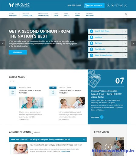 IHR-Clinic-Medical-WordPress-Theme