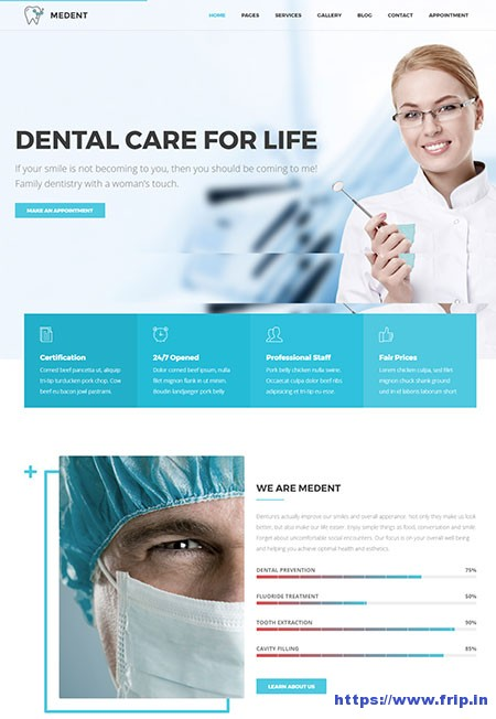 Medent-Dental-Clinic-WordPress-Theme