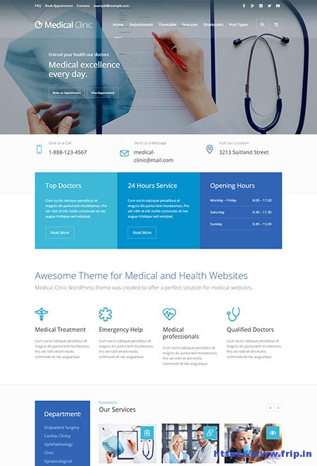 Medical-Clinics-WordPress-Theme