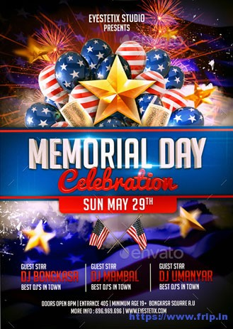 Memorial-Day-Celebration-Flyers