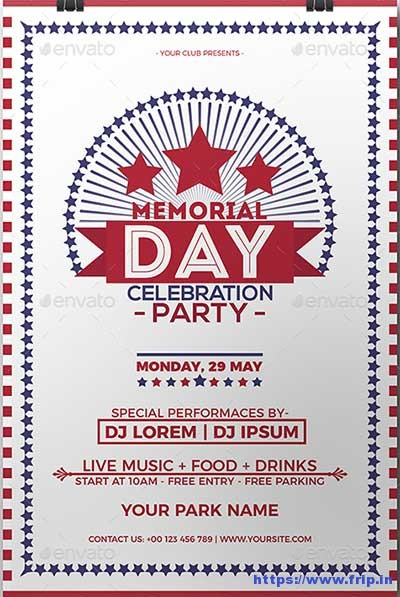 Memorial-Day-Celebration-Party-Flyer