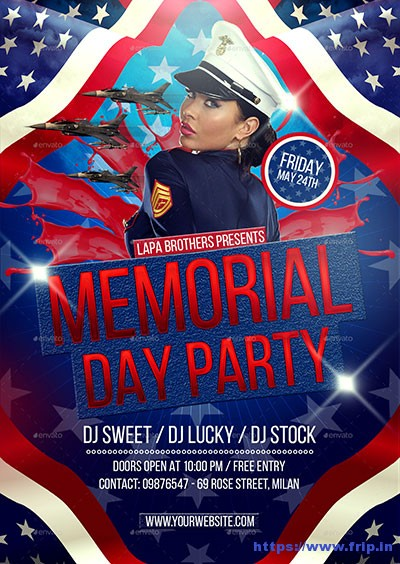 Memorial-Day-Party-Flyer-Template