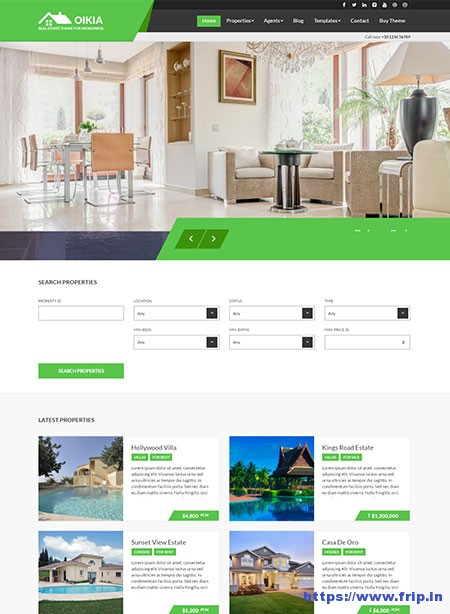 Oikia-Real-Estate-WordPress-Theme