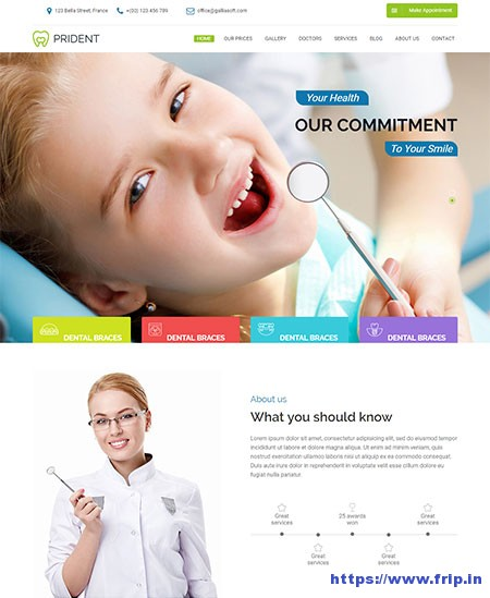 Prident-Dental-Clinic-WordPress-Theme