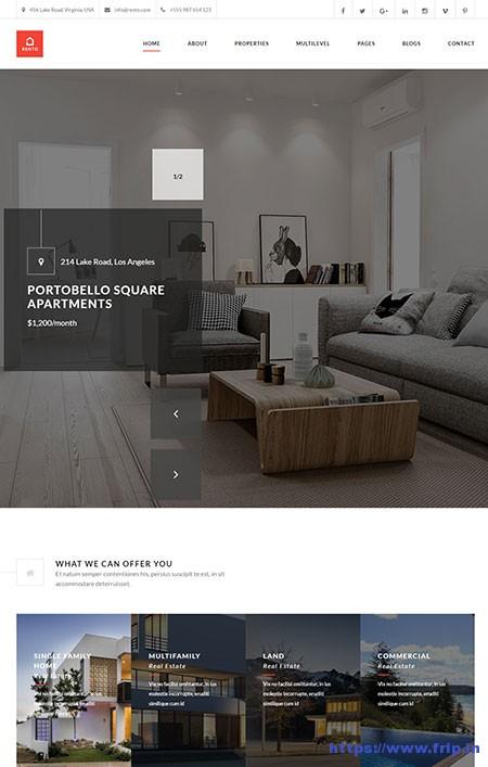 Rento-Real-Estate-WordPress-Theme