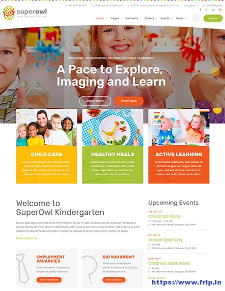 Superowl-Kindergarten-HTML-Template
