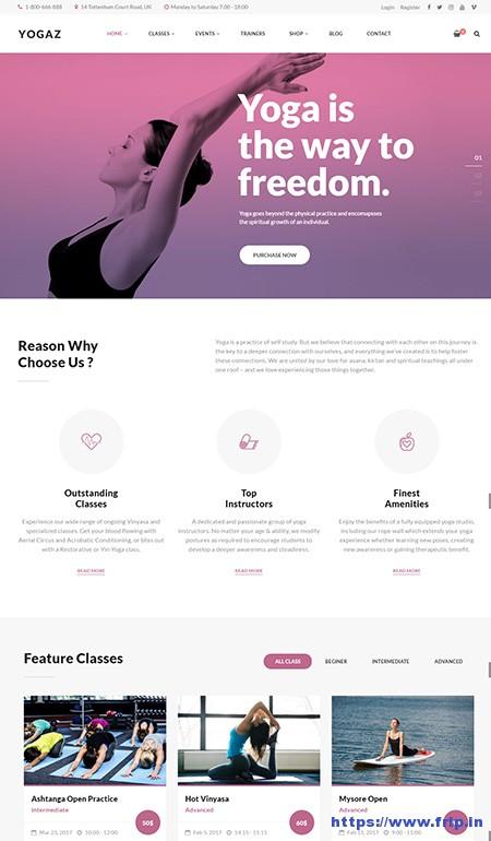 Yogaz-Yoga-WordPress-Theme