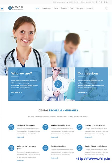 inMedical-Medical-Clinic-WordPress-Theme