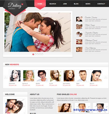 Dating-Responsive-Website-Template