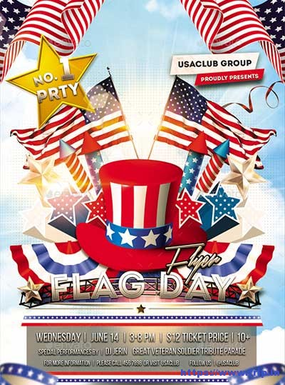 Flag-Day-July-4th-Flyer