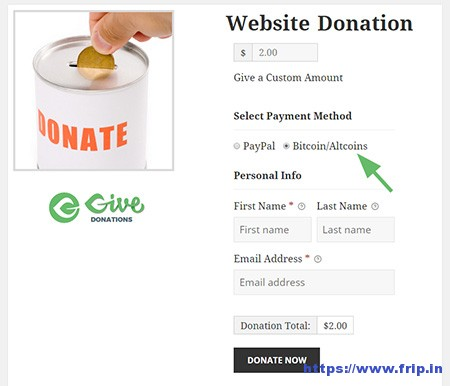 GoURL-Bitcoin-PayPal-Donations-Give-Plugin-Addon