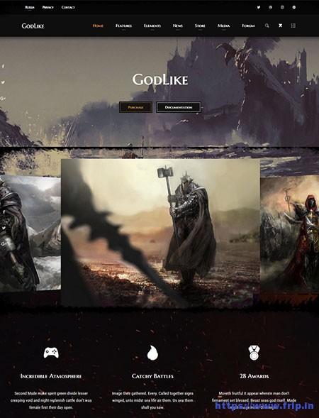 Godlike-Game-WordPress-Theme