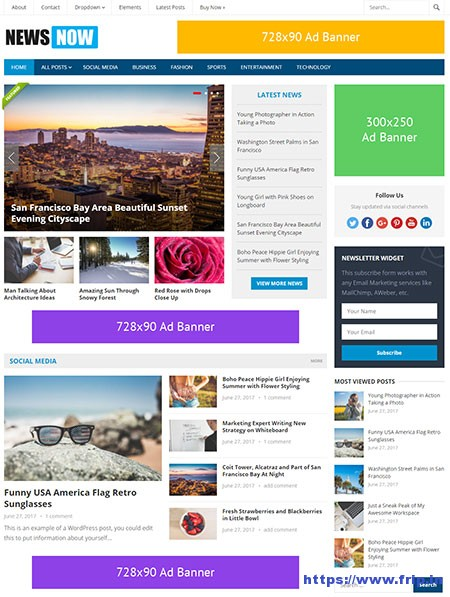 Newsnow-wordpress-theme