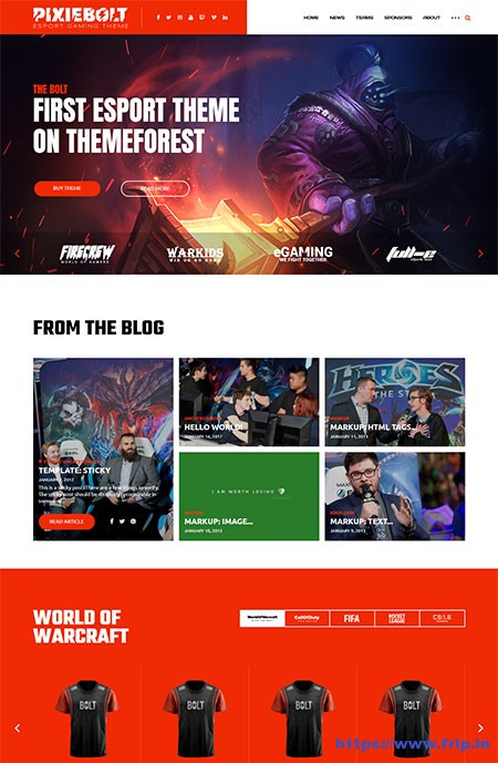 PixieBolt-eSports-Gaming-WordPress-Theme