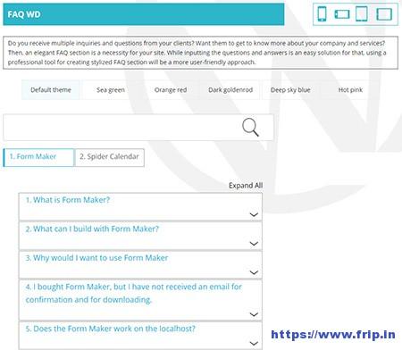 WordPress-FAQ-WD-Plugin