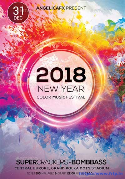 2018-New-Year-Color-Music-Festival-Flyer
