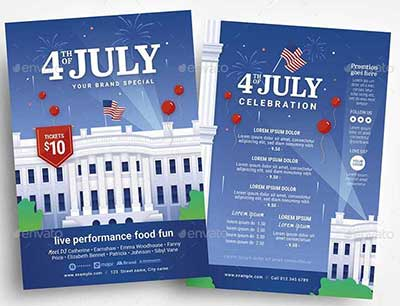4th-July-Flyer-with-White-House-Illustration