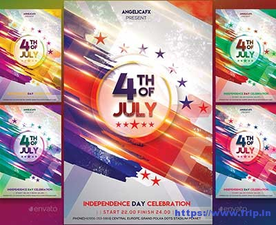 4th-of-July-Photoshop-Flyer-Template