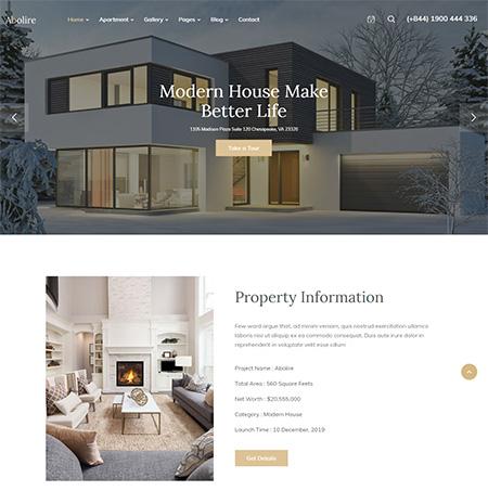Abolire-Single-Property-WordPress-Theme