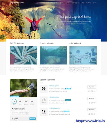 Adore-Church-WordPress-Theme