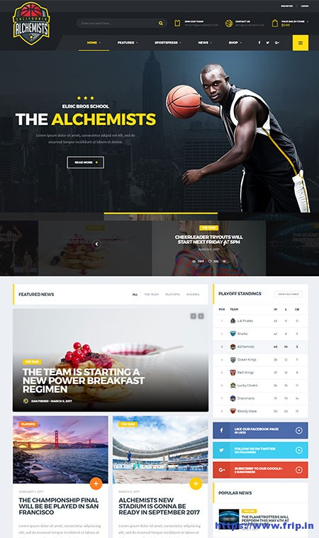 Alchemists-Sports-Club-WordPress-Theme