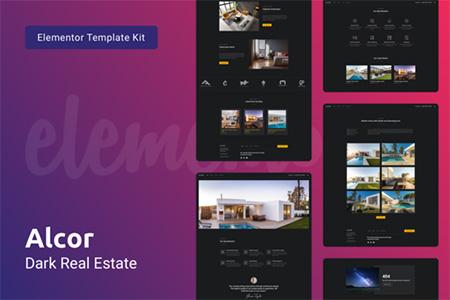 Alcor-Dark-Real-Estate-Elementor-Template-Kit