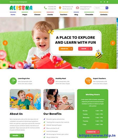 Alisena-Kindergarten-HTML-Template