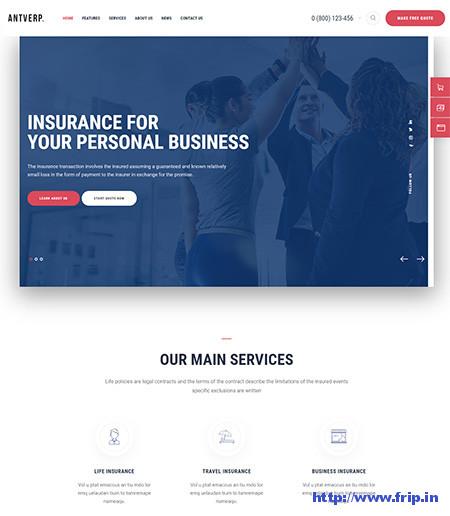 Antverp-Insurance-Agency-WordPress-Theme