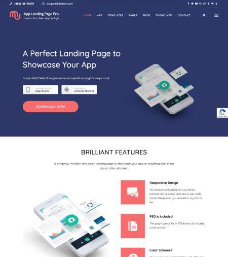 App-Landing-Page-Pro-WordPress-Theme-Frip