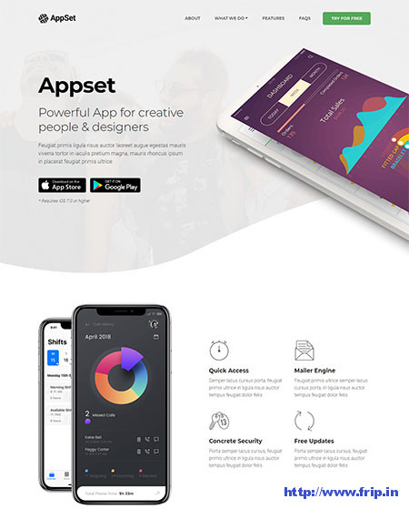 Appset-App-Landing-WordPress-Theme