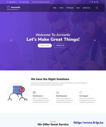 Arrowtic-WordPress-Theme