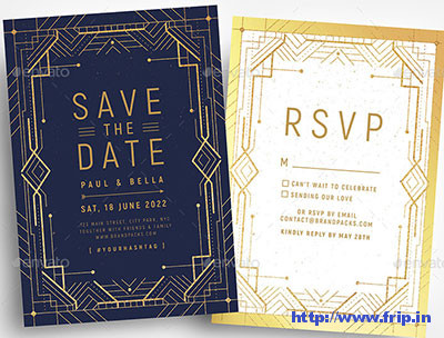 Art-Deco-Invitation-template