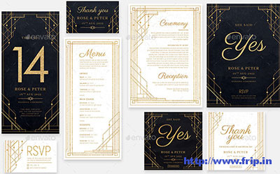 Art-Deco-Wedding-Invitation-Template