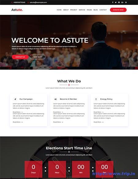 Astute-Political-HTML5-Template