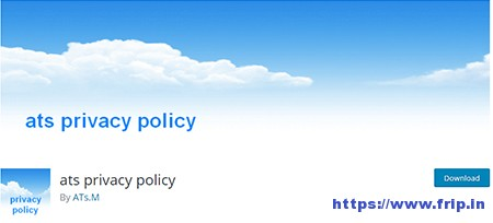 Ats-Privacy-Policy-Plugin