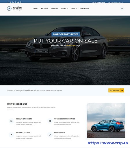 Auction-Car-Dealer-WordPress-Theme