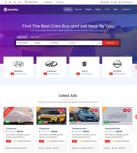 Autolist-Classifieds-HTML-Template