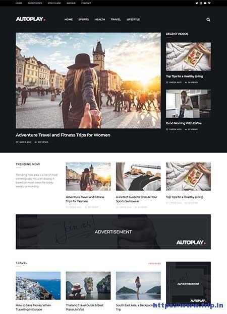 Autoplay-Video-WordPress-Theme