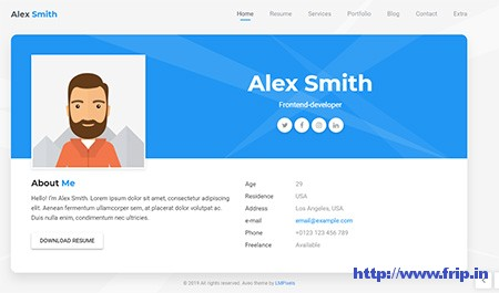 Aveo-Resume-WordPress-Theme