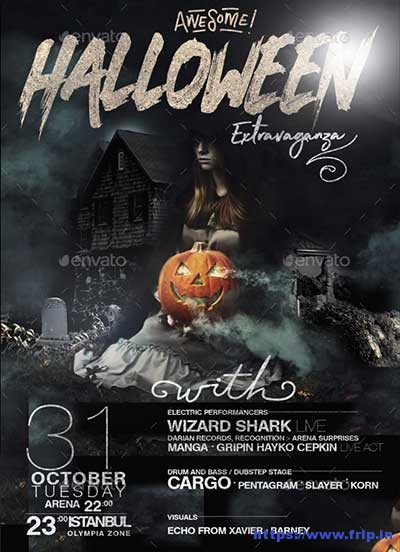 Awesome-Halloween-Extravaganza-Flyer-Template