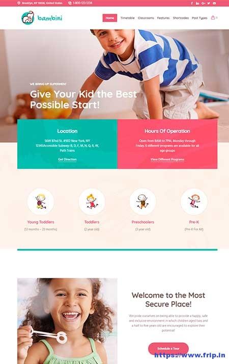 Bambini-Kindergarten-&-Pre--School-Theme