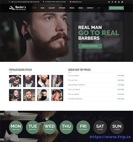 Barber-Hair-Salons-WordPress-Theme