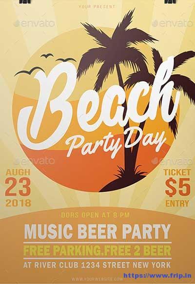 Beach-Party flyer