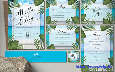Beach-Wedding-Invitation-Set