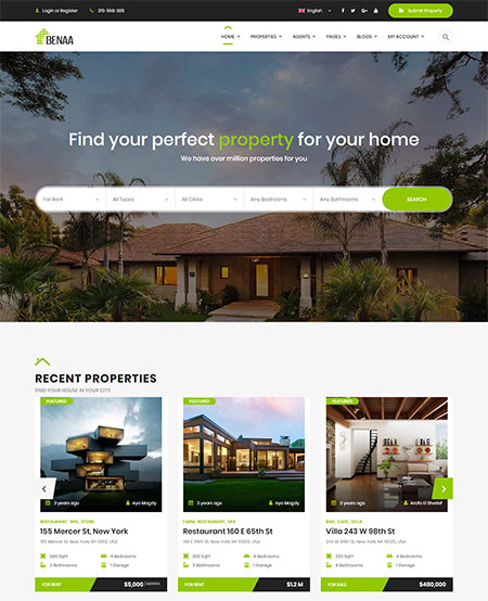 Benaa-Real-Estate-WordPress-Theme