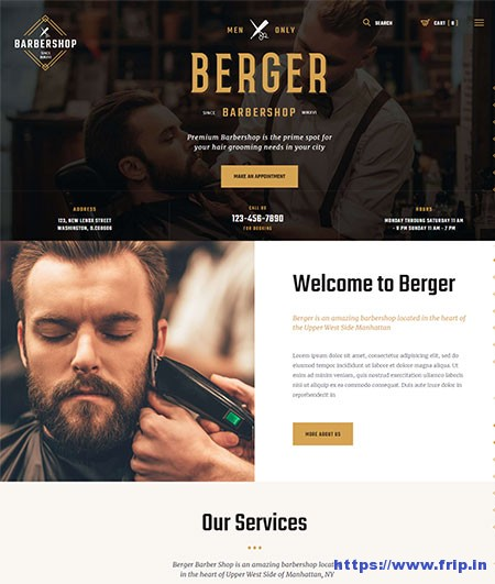 Berger-Barbershop-WordPress-Theme