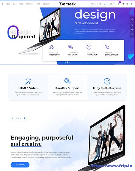 Berserk-Multipurpose-Website-Template
