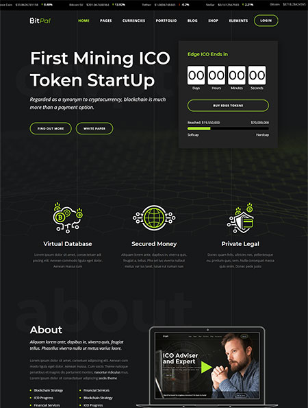 BitPal-Cryptocurrency-WordPress-Theme